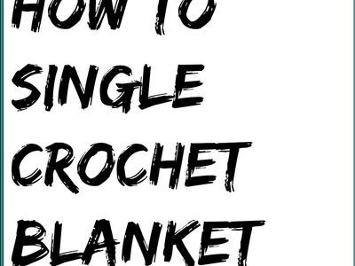 SINGLE CROCHET FOR RIGHT HAND