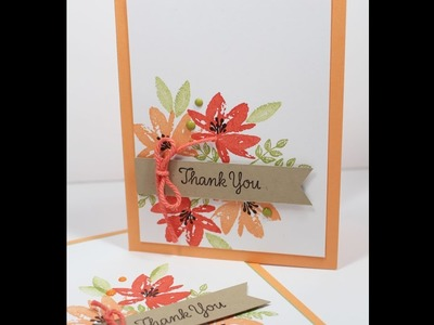 Stampin' Up! Avant Garden Sale a bration FREEBIE how to make a thank you card