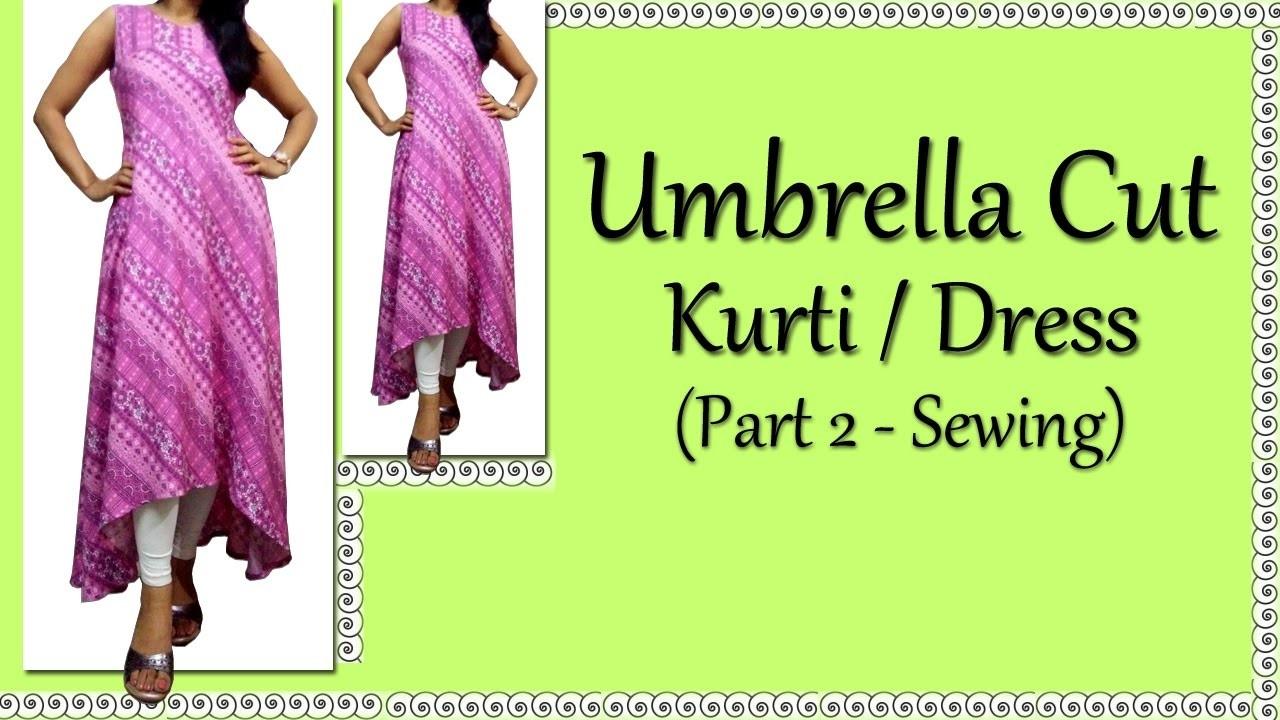 Umbrella Cut Kurti. Dress Stitching | How to make Umbrella Cut Kurti