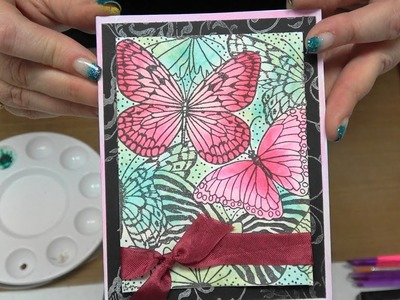 #180 Learn Daniel Simth Watercolors with Stamping & Embossing by Scrapbooking Made Simple
