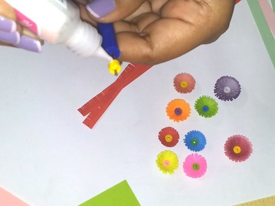 3.How to Make a Quilled fringed flower