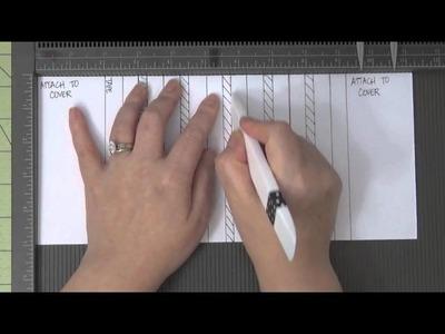 Card Stock Mini Album Assembly with Hidden Hinge Binding Pt 1