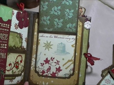 "Christmas Mini Album using K&Co ""Evergreen"" paper"