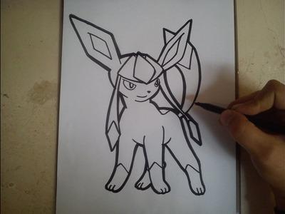 COMO DIBUJAR A GLACEON - POKEMON. how to draw glaceon - pokemon
