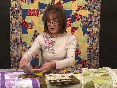 Crazy patchwork quilt-as-you-go technique with Valerie Nesbitt (taster video)