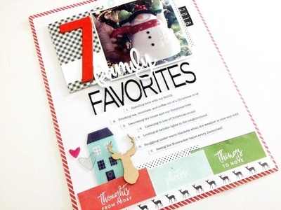 Day 7: Tis the Season - 12 Days of Holiday Scrapbooking w. Audrey Yeager