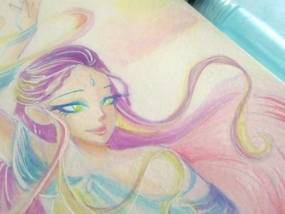 Elemental Ladies Series: Air (#4) - Watercolor Speedpaint ♡iiKiui