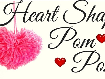 Heart shaped Pom pom Tutorial | #quilling AIOCraft#39
