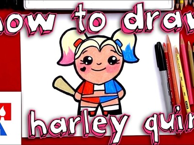How To Draw A Cartoon Harley Quinn