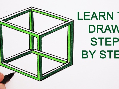 How to Draw an Impossible Cube: Optical Illusion Step By Step