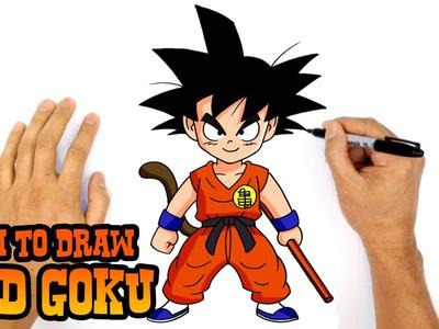 How to Draw Kid Goku (Dragon Ball)- Kids Art Lesson