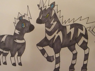 How to draw Pokemon: No.522 Blitzle, No.523 Zebstrika