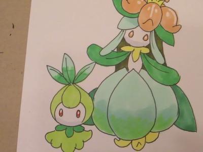 How to draw Pokemon: No.548 Petilil, No.549 Lilligant