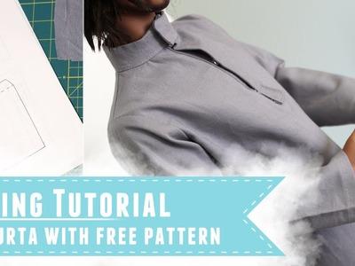 How to make a kurta for Iplehouse SID BJDs, with free pattern