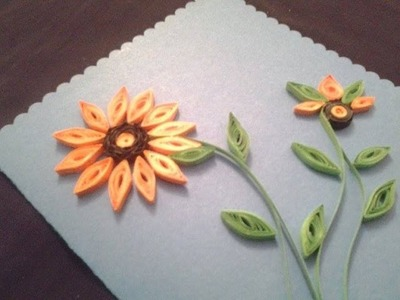 How to make a Quilling Card in Urdu.Hindi by Azra Salim