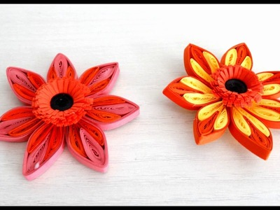 How To Make Flower using paper Art Quilling