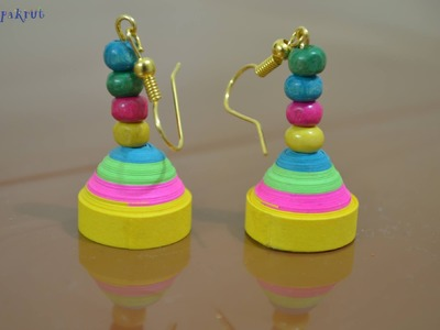 How to make Jhumkas Earrings with Quilling?