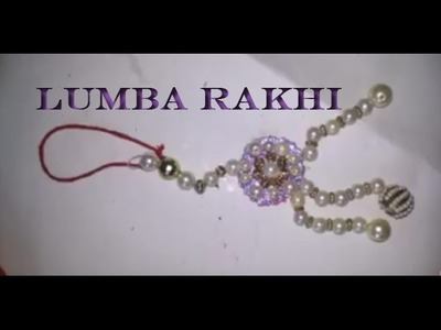 How To Make Lumba Rakhi With Pearls | Craftlas