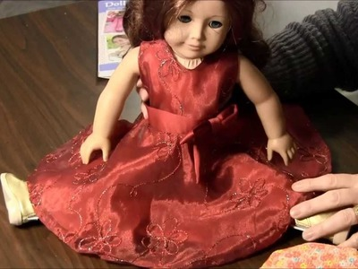"How to Make Party Dress for 18"" Doll (American Girl Doll)"