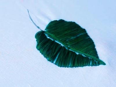 Leaf Stitch In Hand Embroidery by SrujanaTV