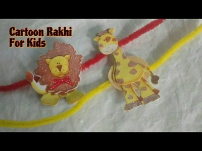 Make Cartoon Rakhi For Kids With Pipe Cleaners | Easy And Quick | Craftlas