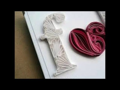 """Paper Quilling    Latter """" F"""" - 2016   """