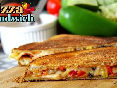 Pizza Sandwich Recipe   Easy Sandwich Recipes   Quick Breakfast Recipes \ kids Tiffin box ideas