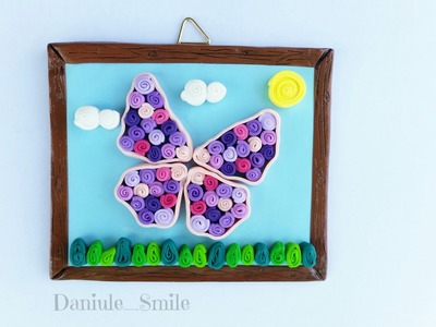 """Polymer clay """"quilling"""" decoration - polymer clay tutorial"""