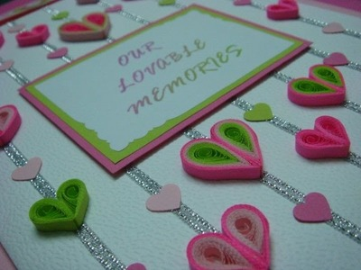 Quilled hearts pop up card
