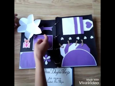 SCRAPBOOK_ HANDMADE _VIOLET _MADE BY KIM DUYÊN