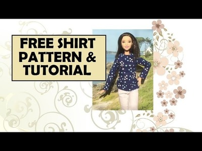 Tall Barbie Free Shirt Pattern and Tutorial