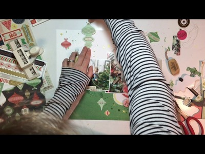 "'Tis the Season Day 4- Scrapbooking Process #50- ""Ornament Time"""