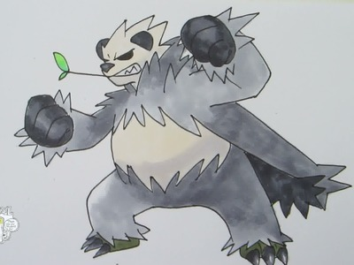 [Tutorial] How to draw Pangoro from the Pokemon X and Y