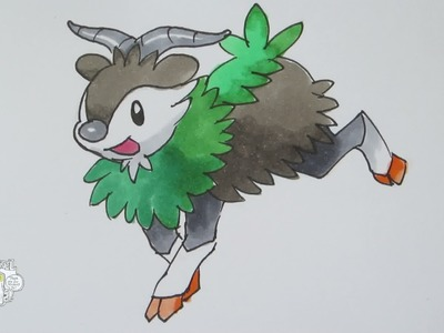 [Tutorial] How to draw Skiddo from Pokemon X Y メェークル