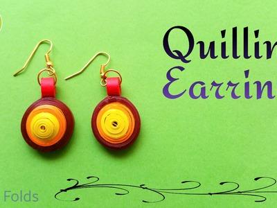 "Tutorial to make an easy beautiful  ""Circular Quilling Earrings"" (Design 2)"