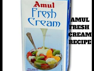 Amul Homemade Fresh Cream Recipe   How To Make Fresh Cream From Milk   How To Make Cream At Home