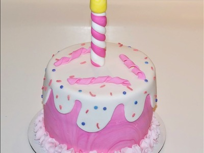 Cake decorating tutorials - how to make a simple 1st  baby girl cake - Sugarella Sweets