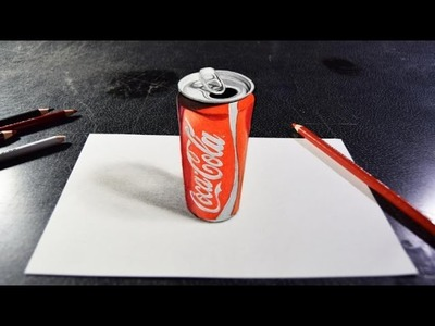 Cola Can Drawing 3D Art On Paper | 3D Zeichnen