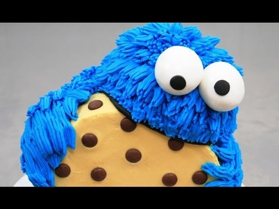 COOKIE MONSTER CAKE - Buttercream Decorating *How To Make by CakesStepbyStep