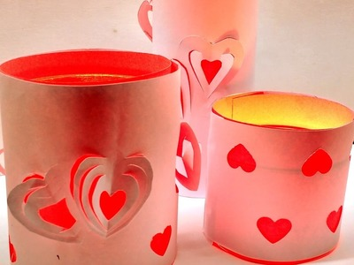Diy Easy Printer Paper Votives for Valentine's Day