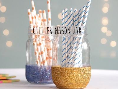 DIY: Glitter Mason Jar
