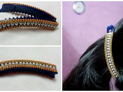 DIY Hair Accessories: Turn your old banana clip into new designer clip at home I Creative Diaries