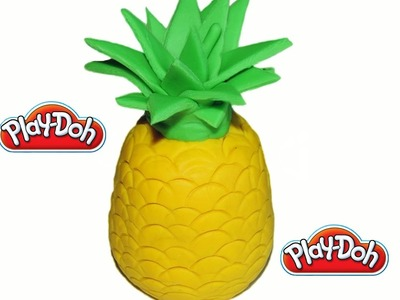 DIY How To Make Play Doh Pineapple