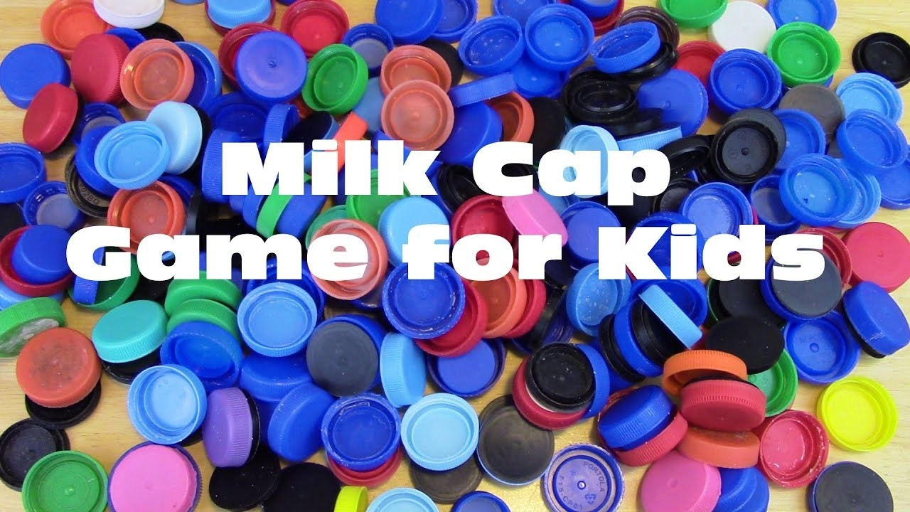 DIY Milk Cap Game for Kids  - Easy, Cheap, Eco-Friendly-