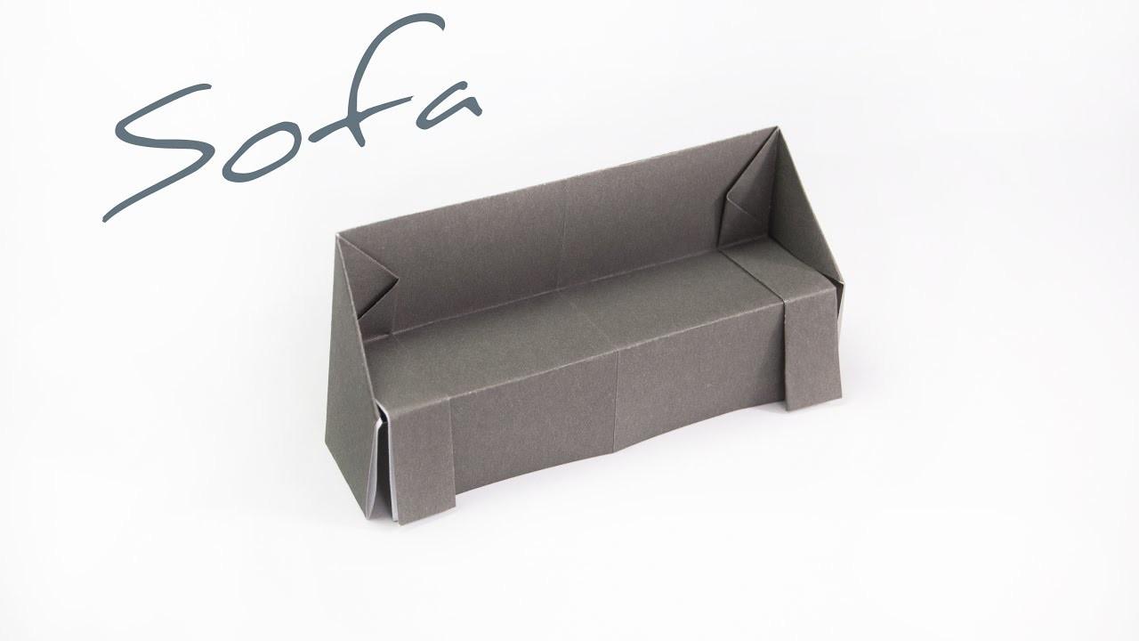 DIY Origami   How to make a paper sofa