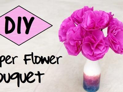 DIY Paper Flower Bouquet | EASY Room Decor DIY
