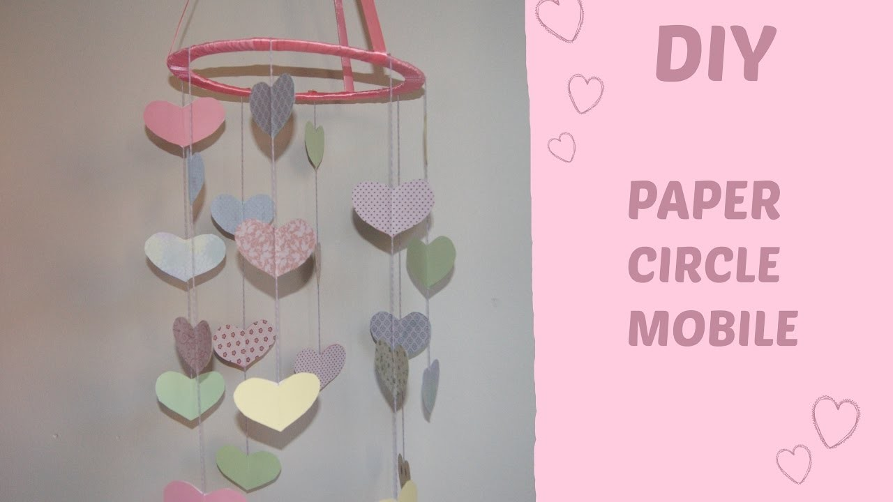 DIY ♡ Paper mobile for baby   Decor Line  