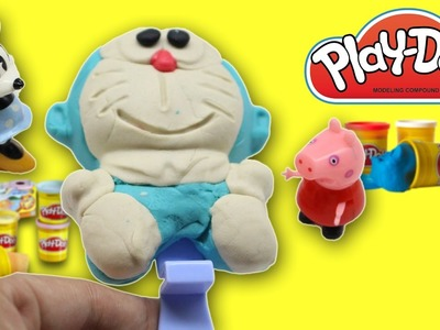 DIY Play Dough Ice Cream Surprise Toys Doraemon! Learn Colours Creative for Kids
