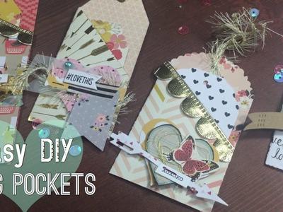 ♥ EASY DIY POCKET TAGS . Valentines Ideas  | I'm A Cool Mom