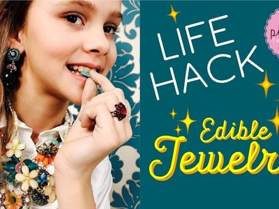 EASY LIFE HACK *** DIY Edible JEWELRY With Edible Glitter for Decoration| Pink Pie Factory